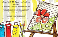 Art Party Paint Set Birthday Party Invitations