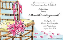 Bride Chair Bridal Floral Decorations Invitation