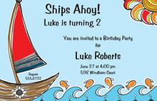Sailboat Illustration Invitation