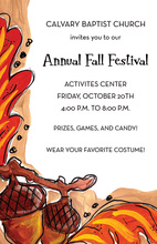 Fall Festival Acorns Invitation