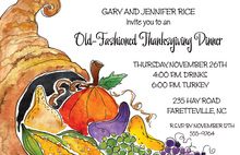 Thanksgiving Dinner Invitation