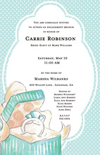 Aqua Ring Box Invitations