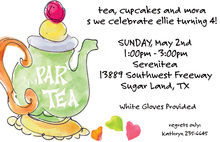 Illustrating Tea Party Invitations