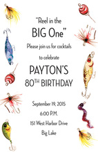 Fishing Lures Galore Invitation