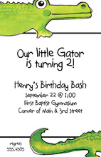 Mysterious Little Gator Invitation