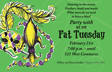 Fun Painted Fat Tuesday Invitations