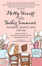 Celebrating Peachy Pink Couples Shower Invitations