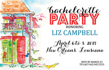 Illustrating Bachelorette Party House Invitations