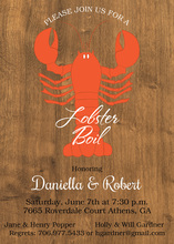 Lobster Boil Woodgrain Invitation