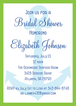 Bridal Shower Anchor Invitation