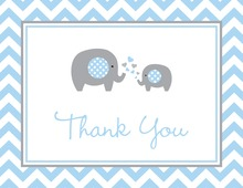 Blue Chevron Elephant Note