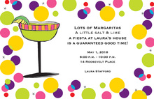 Bright Margarita Multi Colored Dots Invitations