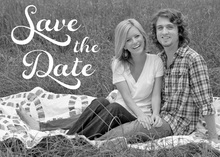 Flowing Script Save the Date Photo Cards