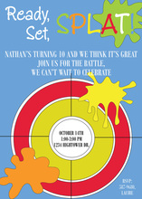 Ready Set Splat! Birthday Party Invitations