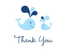 Blue Whale Splash Thank You Cards