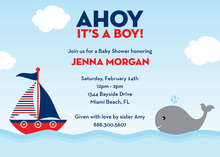Ahoy! It's a Boy! Invitations