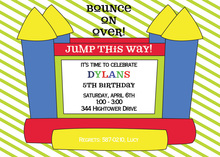 Classy Primary Bounce House Birthday Invitations