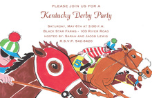 Jockeys Horseback Racing Colors Invitation