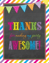 Bright Stripes Chalkboard Thank You Notes
