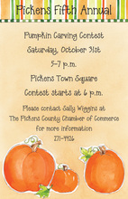 Festive Pumpkin Invitation