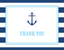 Navy Stripes Anchor Light Blue Note