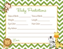 Green Chevron Safari Animals Baby Predictions
