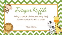 Safari Animals Diaper Raffle Cards