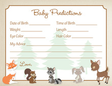 Woodland Animals Baby Predictions