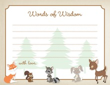 Woodland Animals Advice Cards