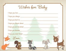 Woodland Animals Baby Wishes