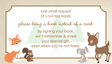 Woodland Animals Bring A Book Card
