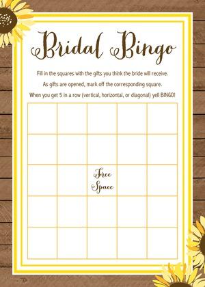Sunflower Wood Bridal Advice Cards