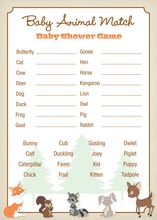 Woodland Animals Baby Animal Name Game