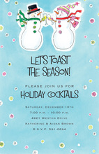 Toasting Snowmen Invitation
