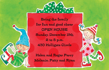Fun Holiday Elves Invitation