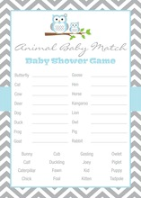 Powder Blue Adorable Hoot Baby Animal Name Game