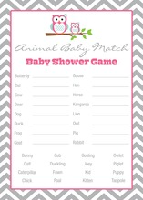 Deep Pink Adorable Hoot Baby Animal Name Game