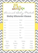 Deep Yellow Adorable Hoot Baby Animal Name Game