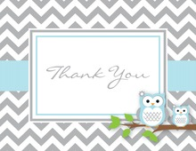 Blue Adorable Hoot Note Cards