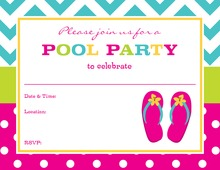 Hot Pink Sandals Fill-In Party Invitations