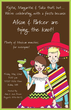 Fiesta Couple Chocolate Color Invitations