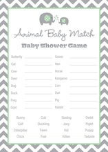 Mint Chevron Elephant Baby Animal Name Game