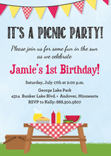 Summer Picnic Red Mustard Invitations