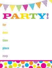 Bright Dots Chalkboard Fill-in Invitations