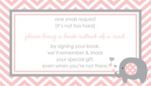 Pink Chevron Bring A Book Card