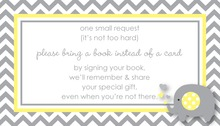 Yellow Grey Chevron Bring A Book Card