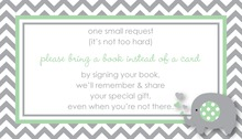 Mint Grey Chevron Bring A Book Card