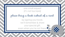 Navy Grey Chevron Bring A Book Card