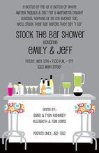 Modern Posh Stock The Bar Smoke Invitations
