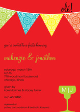Charming Ole! Fiesta Red Holiday Invitations